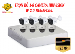 TRỌN BỘ 1-8 CAMERA HIKVISION IP 2MP